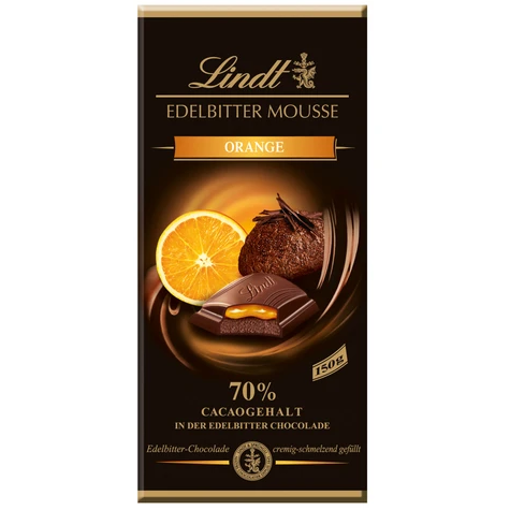 Picture of LINDT EDELBITTER MOUSSE CHOCOLATE ORANGE 70% 150G