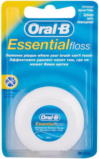 Picture of ORAL-B ESSENTIAL FLOSS UNWAXED 1PC - DENTAL FLOSS