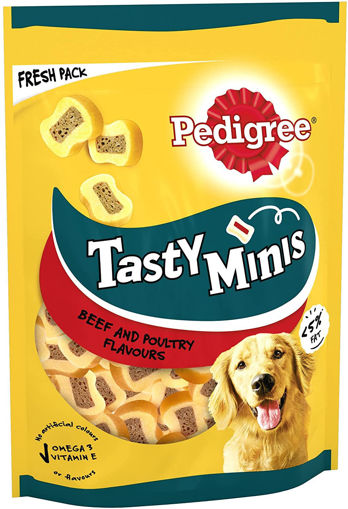 Picture of PEDIGREE TASTY MINIS BEEF & POULTRY FLAVOURS 155G