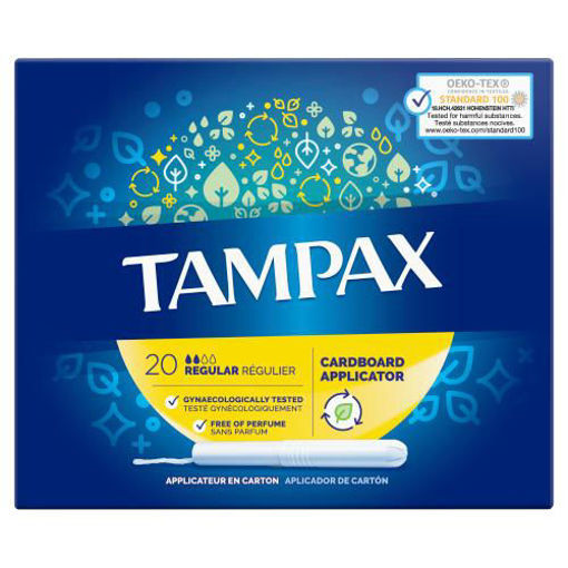 Picture of TAMPAX REGULAR TAMPONS WITH CARDBOARD APPLICATOR X 20