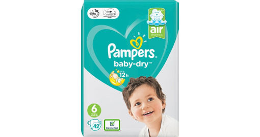 Picture of PAMPERS BABY DRY 6 - 42 PIECES